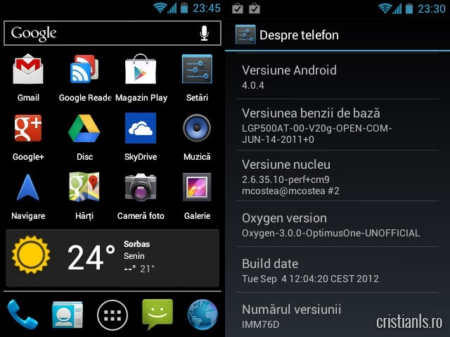 Android 4.0 Optimus One