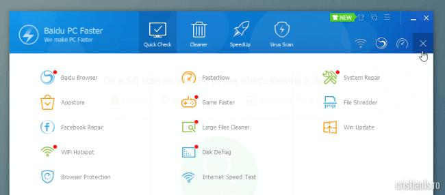 Trusa de instrumente a Baidu PC Faster