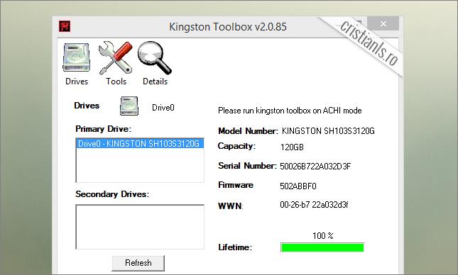 actualizare formware kingston hyperx 3k