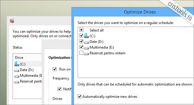 defragmentare activata pentru SSD