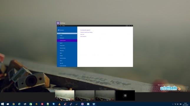 desktop virtual aplicatii minimizate