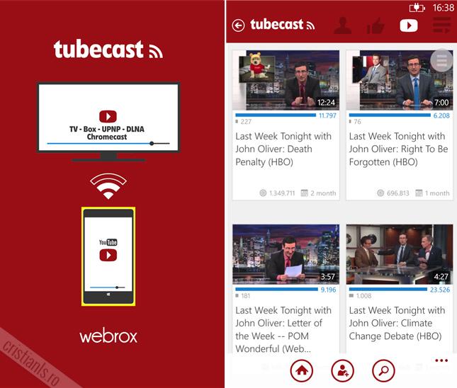 tubecast for windows phone
