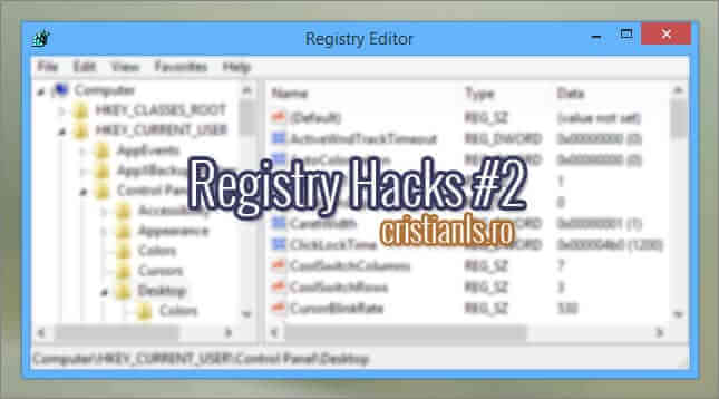 Registry Hacks Windows 10
