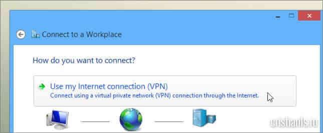 Use my Internet connction (VPN)