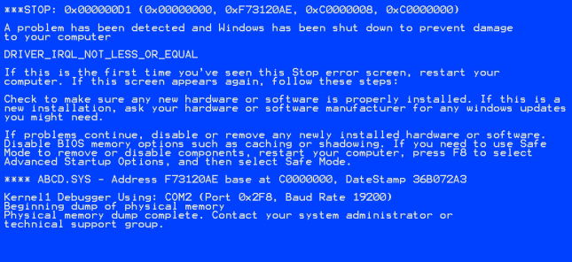 bsod windwos