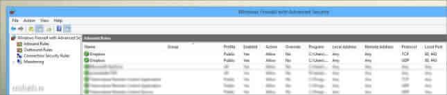 porturi windows firewall