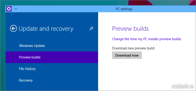 windows 10 update versiune preview