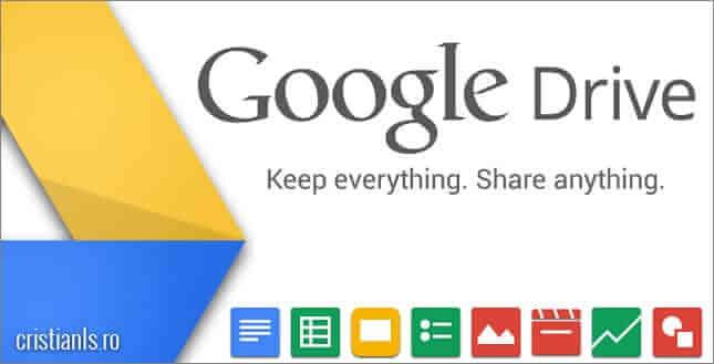 transfer fisiere internet - google drive