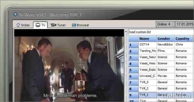 vizionare posturi tv cu tv wave