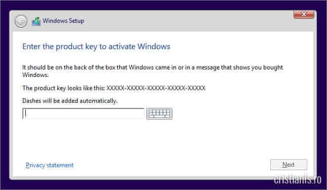 cheie produs windows