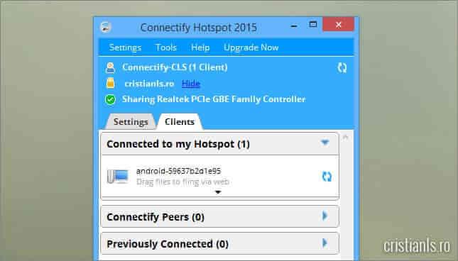 clienti conectati la reteaua wireless virtuala
