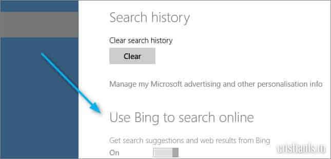 comutator Bing dezactivat