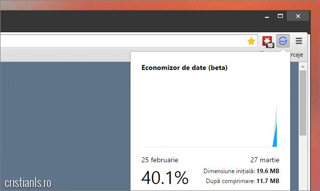 economizor de date pentru google chrome