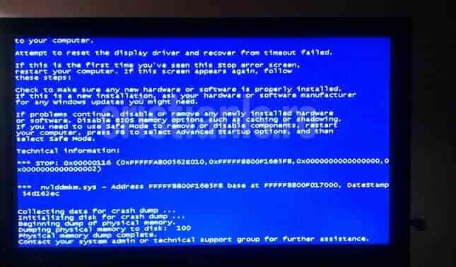 nvlddmkm.sys bsod