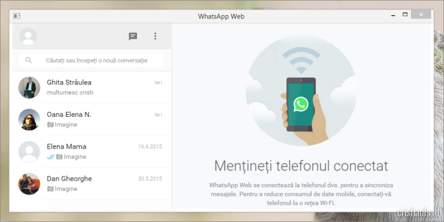whatsapp web desktop pc