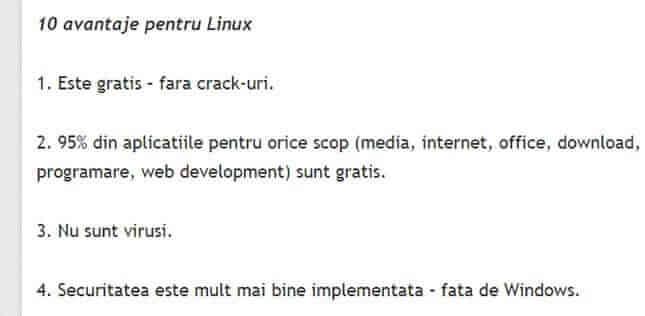 avantaje linux