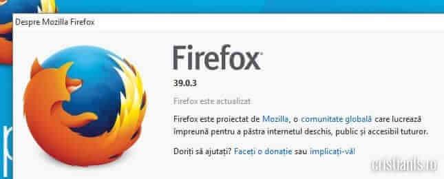 firefox actualizat bug