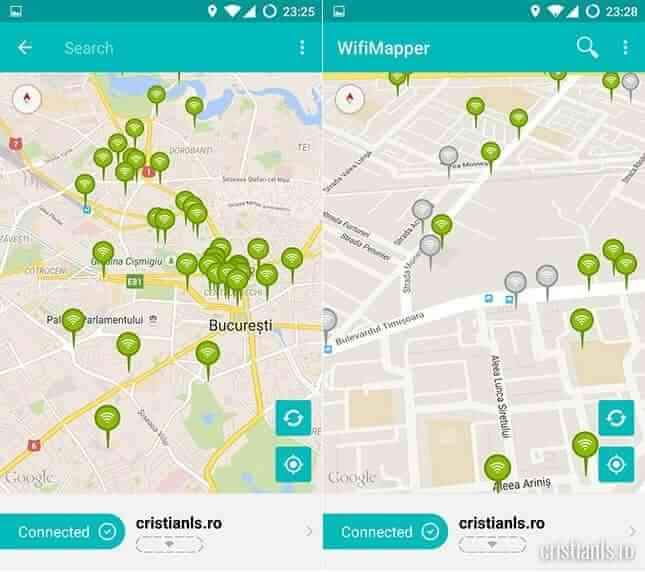 WifiMapper in Bucuresti