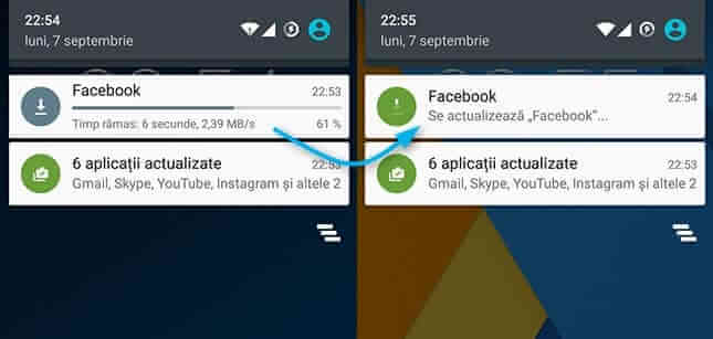 android instaleaza si actualizeaza