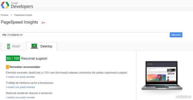 pagespeed-octombrie-2015
