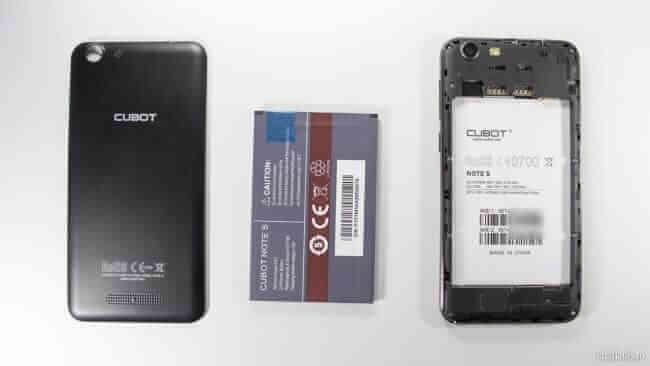 Cubot Note S - Baterie