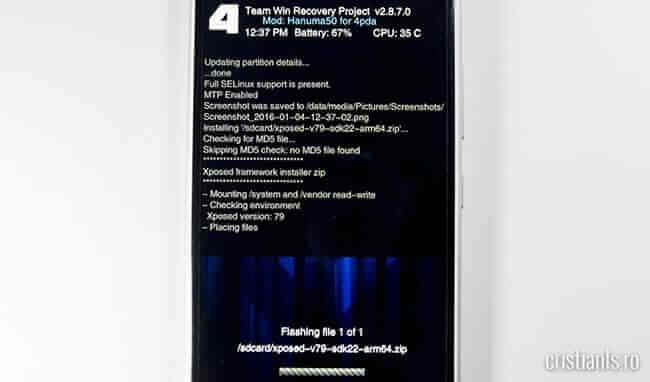 instalare aplicatii android din custom recovery