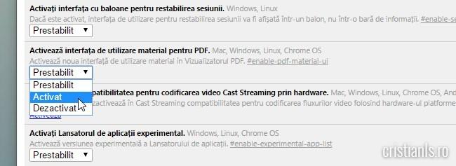 Activeaza interfata de utilizare material pentru PDF