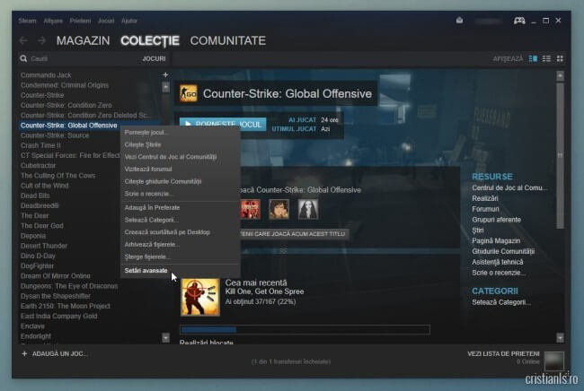 Counter-Strike: Global Offensive - Setari avansate