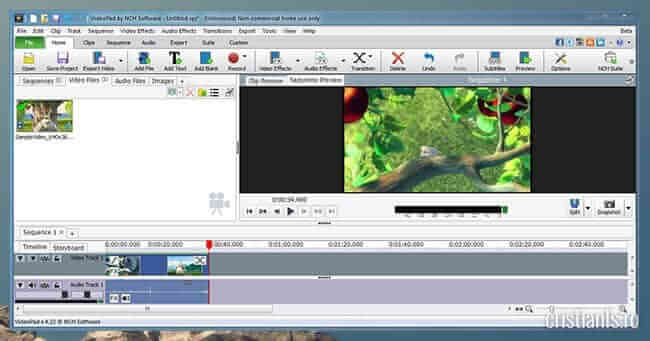 VideoPad program de editat video gratuit