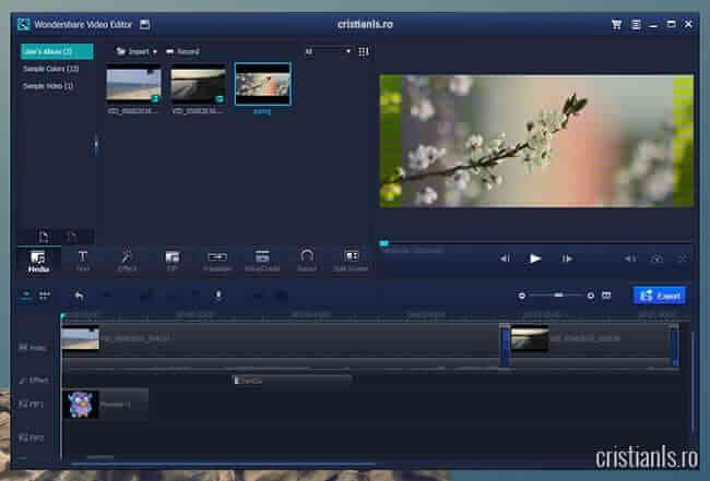 Wondershare Video Editor - program editare video