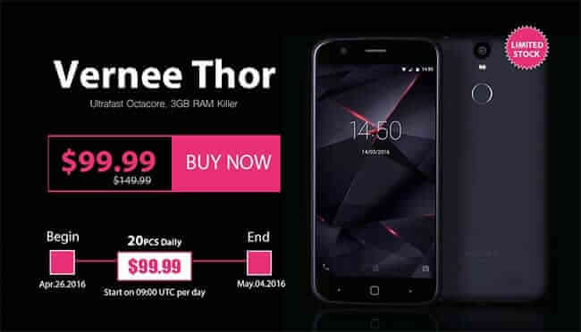 Vernee Thor - promotie