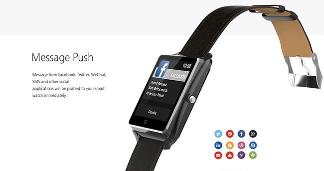 Bluboo Uwatch - Push