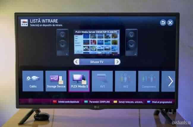 Lista intrare Smart TV