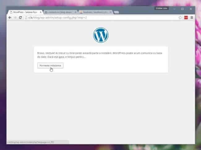 wordpress - instalat