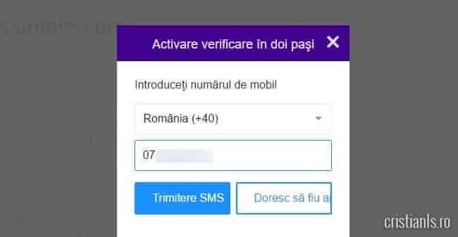 activare verificare in doi pasi la Yahoo!