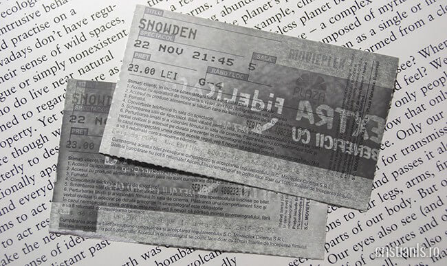 bilete film snowden