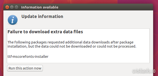 failure to download extra data files
