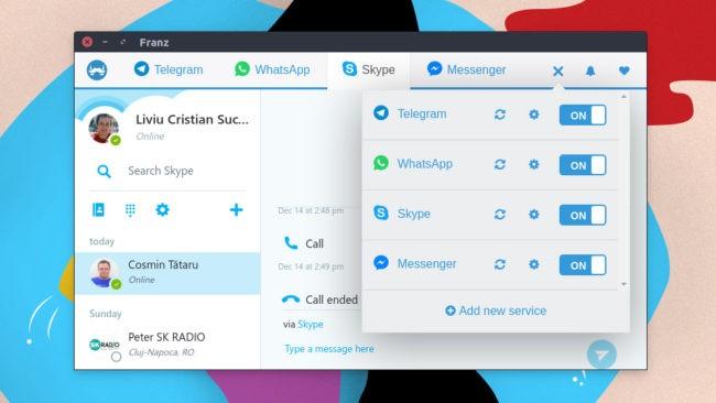 Franz - Desktop client Ubuntu