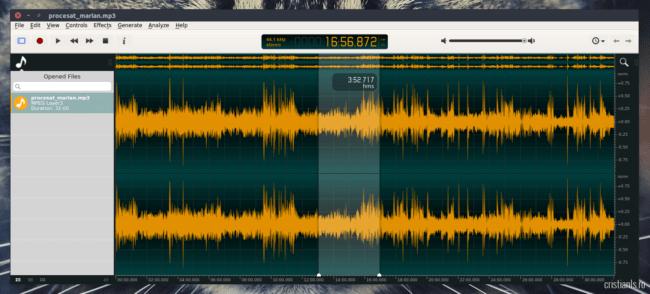 ocenaudio editor audio ubuntu