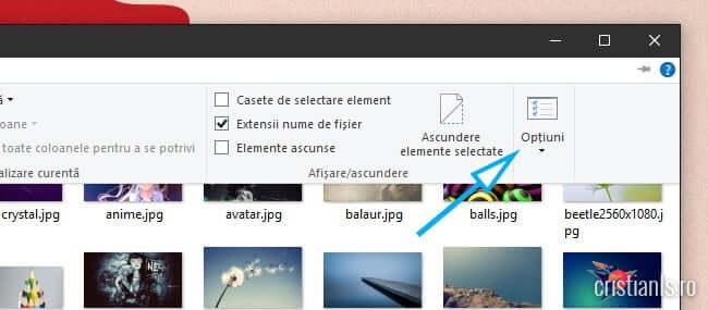 Optiuni Windows Explorer