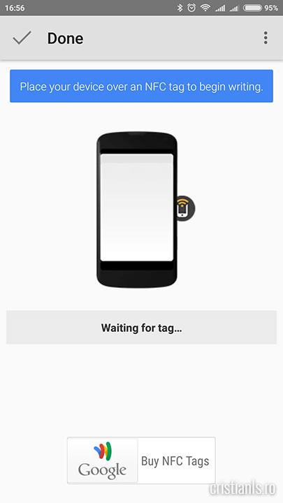Se asteapta apropierea tag-ului NFC