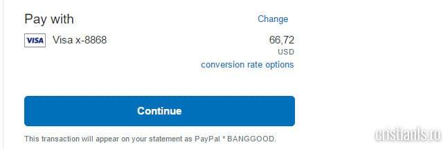 efectuare plata PayPal