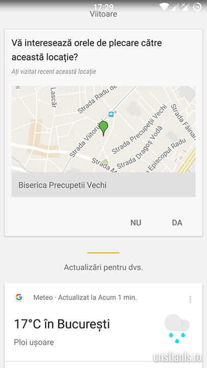 intereseaza locatia - google now