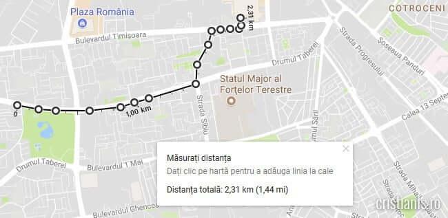 masuratori google maps