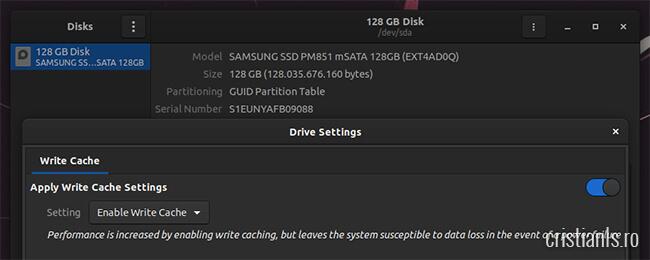 write cache ubuntu