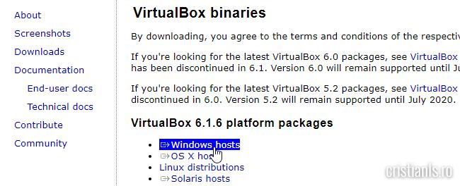Downloads Oracle VM VirtualBox