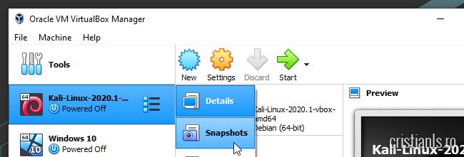snapshots virtualbox