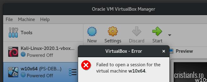 vbox error