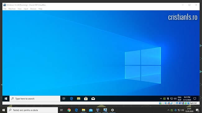 Windows in VirtualBox
