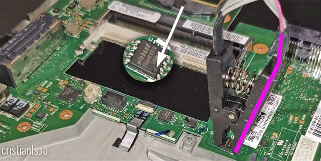 conectare CH341A la 25Q64